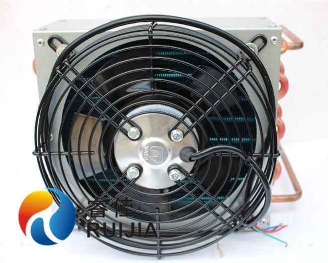 铜管套铝翅片空气散热器